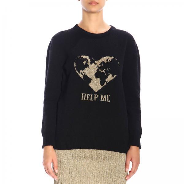 Alberta Ferretti crew-neck pullover with lurex embroidery help me