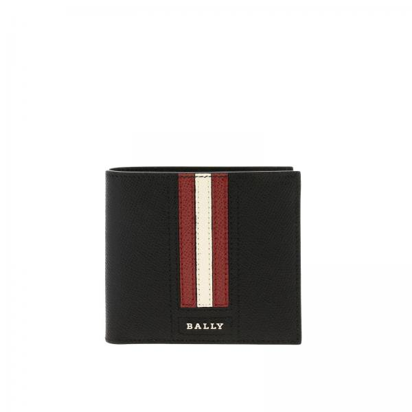 Bally Trasai.lt trainspotting纹颗粒真皮钱包