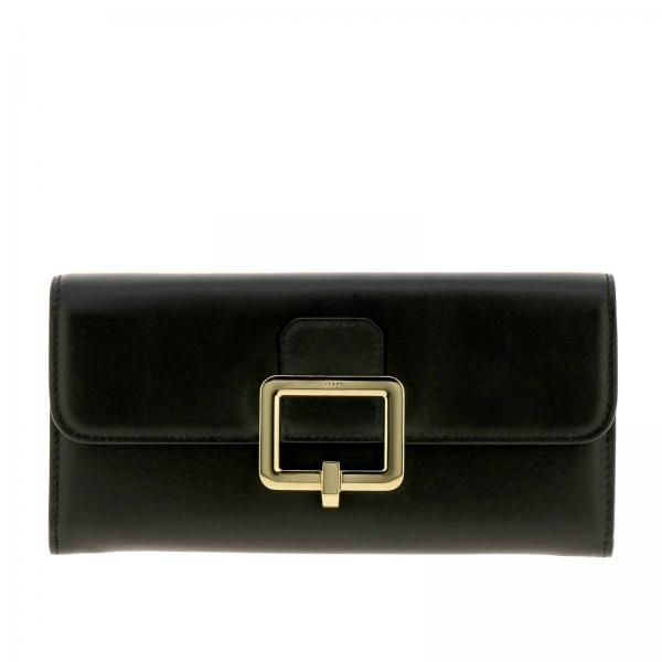 Jinny leather wallet with Bally buckle