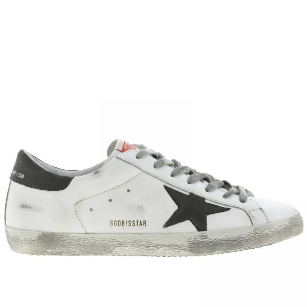 Superstar Golden Goose used-effect leather sneakers
