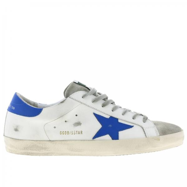 Superstar Golden Goose used-leather effect and suede sneakers