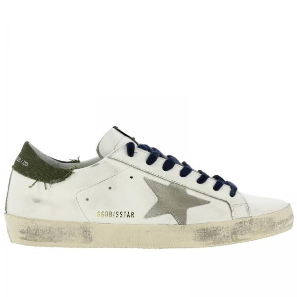 Superstar Golden Goose leather sneakers with suede star and canvas heel