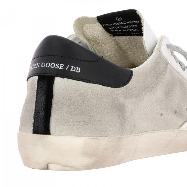 Sneakers Uomo Golden Goose Nero | Sneakers Superstar Golden Goose In Camoscio E Pelle Stampata A Righe | Sneakers Golden Goose G35ms590 Q66