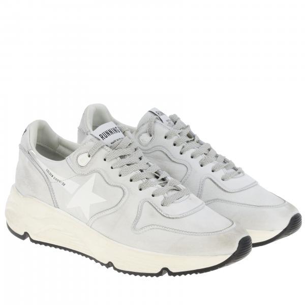 Sneakers Uomo Golden Goose Bianco | Sneakers Running Sole Golden Goose In Pelle Used | Sneakers Golden Goose G35ms963 E3
