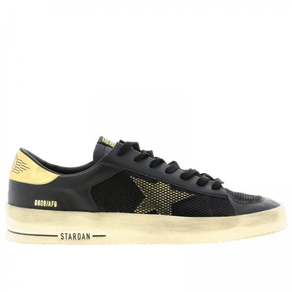 Stardan Golden Goose leather sneakers and two-tone mesh with laminated heel