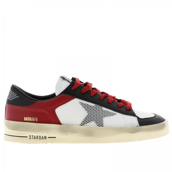 Stardan Golden Goose leather and bicolor net sneakers