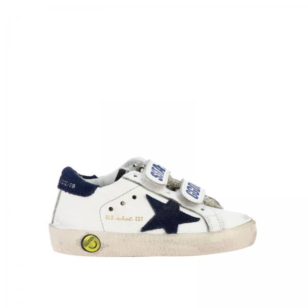 Old school Golden Goose sneakers in leather with suede star and velcro