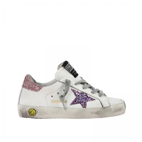 Superstar Golden Goose leather sneakers with glitter star