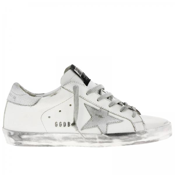 Sneakers Superstar Golden Goose in pelle con stella laminata