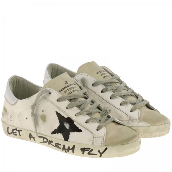 G35ws590 Con Sneakers Used Donna Tallone Goose Laminato E Stella BiancoSuperstar In Dipinta Q27 Golden Pelle eDH9IYWE2