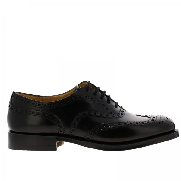 Francesina Bourwood Church's in pelle con motivo brogue a coda di rondine
