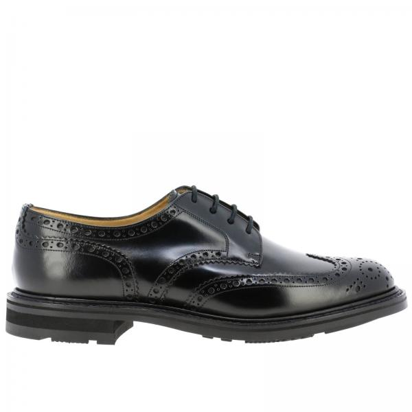 Derby Claverton Church's in pelle spazzolata con motivo brogue a coda di rondine