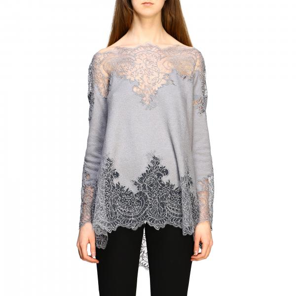 Ermanno Scervino sweater with long sleeves and lace inserts