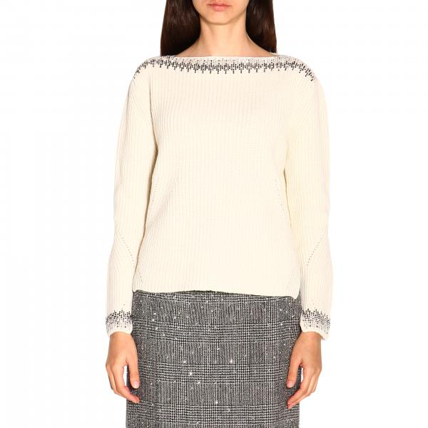 Ermanno Scervino sweater with long sleeves and bright inserts