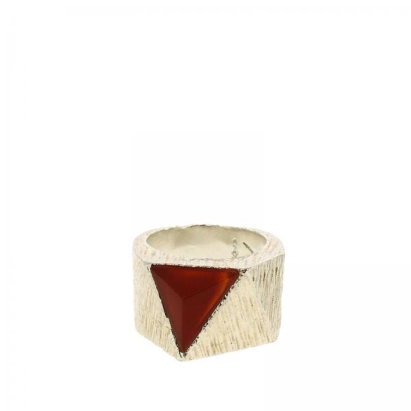 Anello Rockyourmind con agata rossa