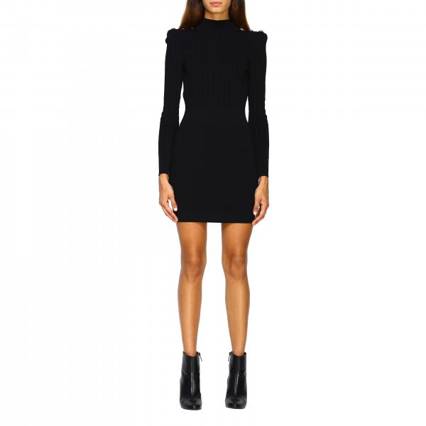 Balmain knit dress with jewel buttons