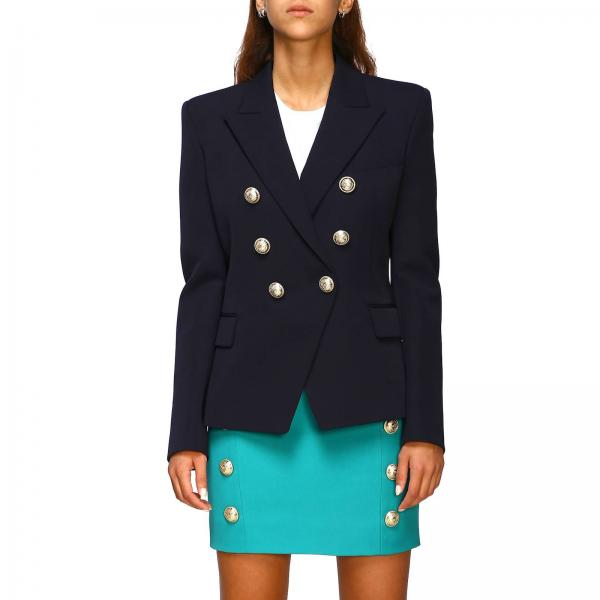 Balmain double-breasted wool blazer with jewel buttons