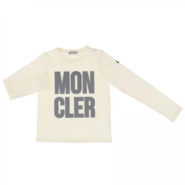 T-shirt Moncler a maniche lunghe con logo lurex