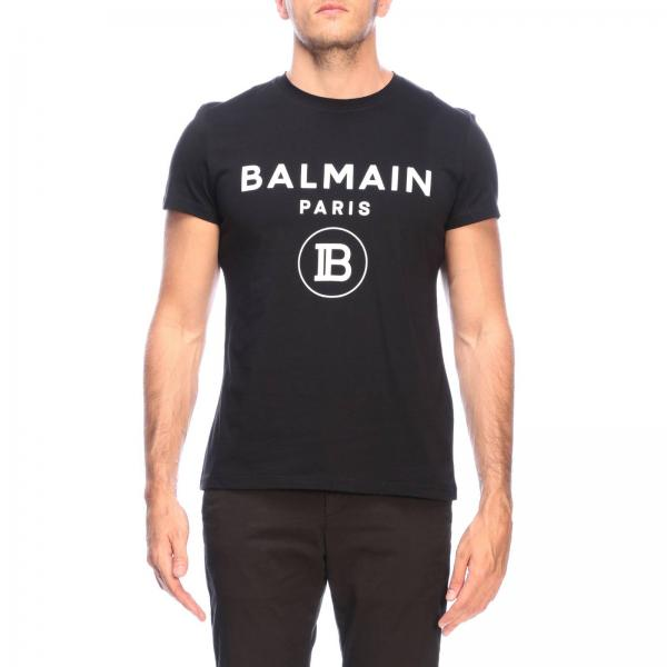Balmain short-sleeved T-shirt with logo