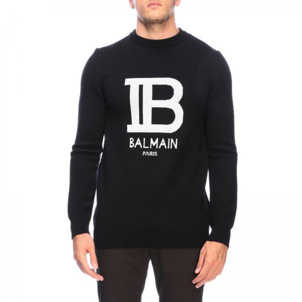 Balmain crew-neck jumper with jacquard big logo
