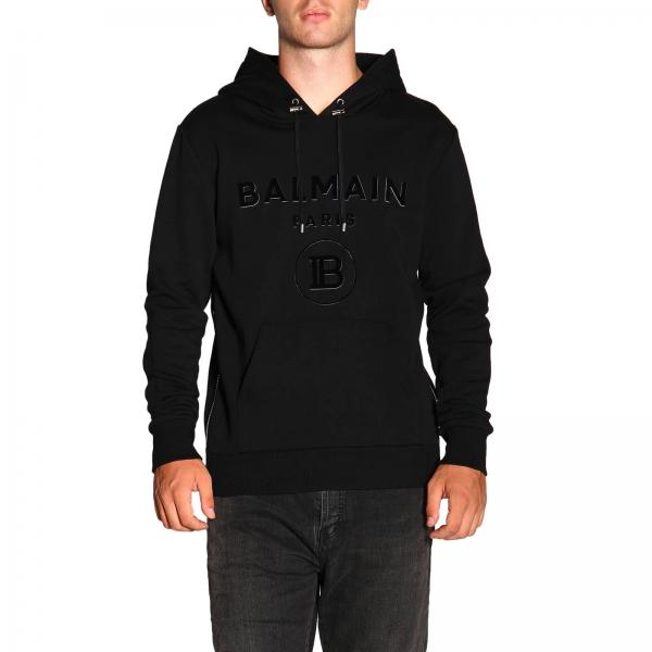 Balmain jumper with hood and logo
