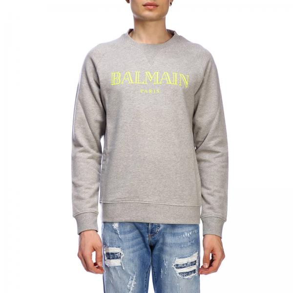 Balmain crewneck jumper with logo