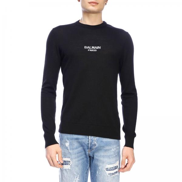 Balmain crew-neck jumper with logo