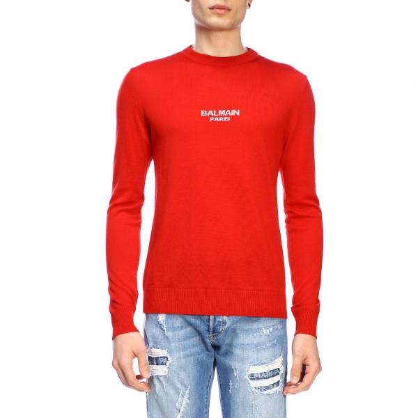 Balmain crew-neck sweater with logo