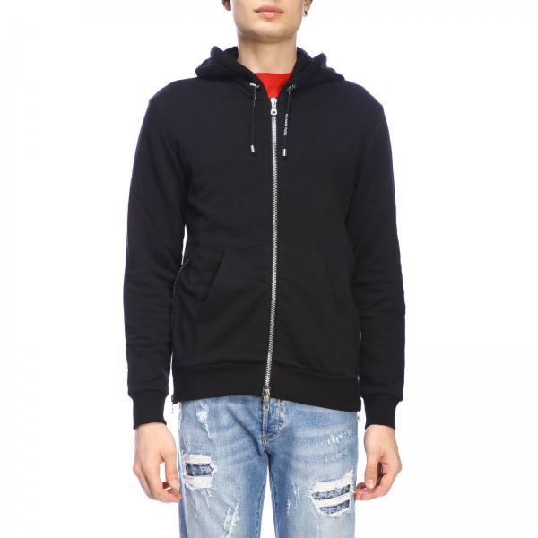 Balmain full zip jumper with hood and logo