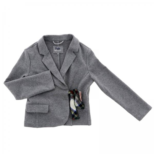Giacca Il Gufo in jersey con fiocco tartan