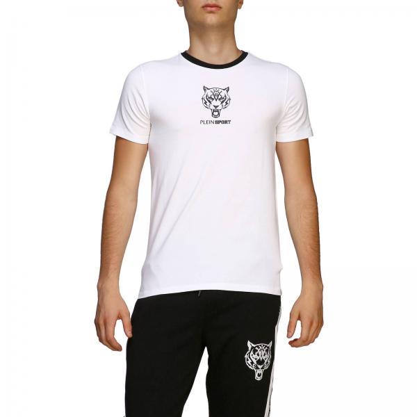 Logo Mtk3706 Plein BiancoA Sjy001n Sport shirt Con Uomo Girocollo Philipp T vNnOym0wP8