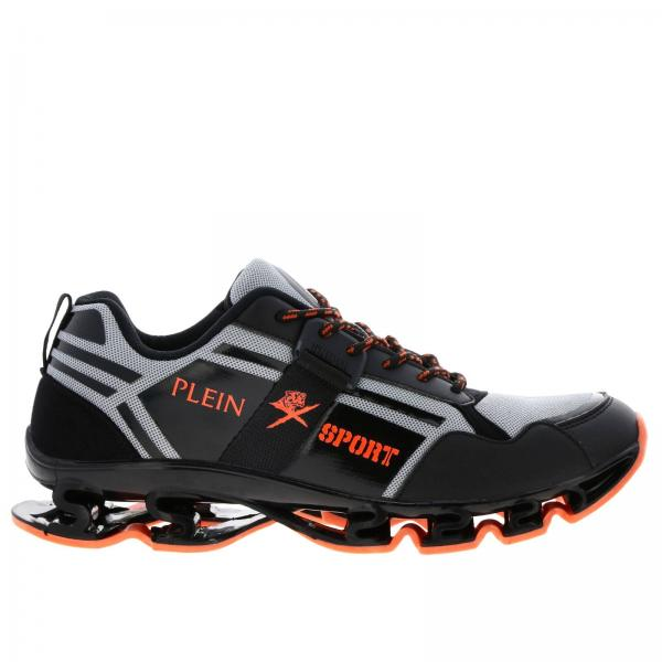 Plein Sport Runner Cross Tiger 真皮网眼运动鞋