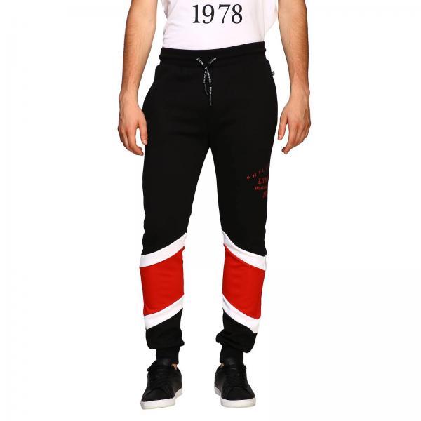 Zweifarbiges Jogging-Sweatshirt mit Logo