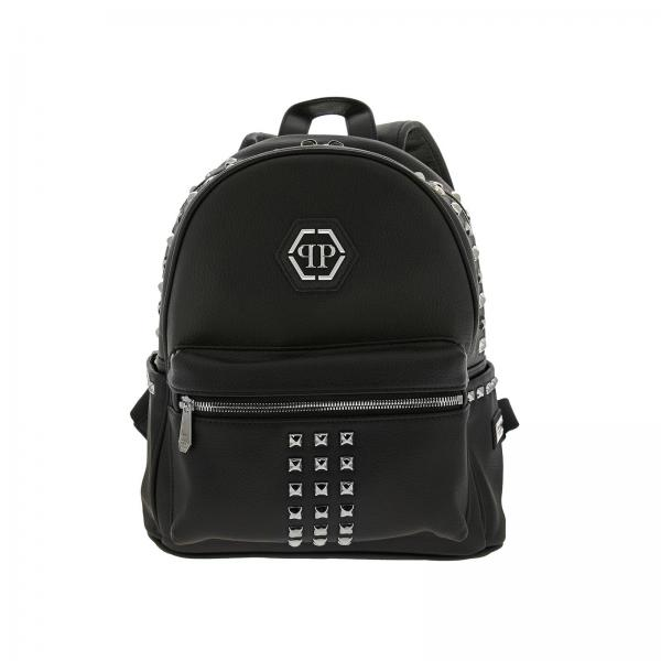 Philipp Plein backpack in synthetic leather with all over stars and studs