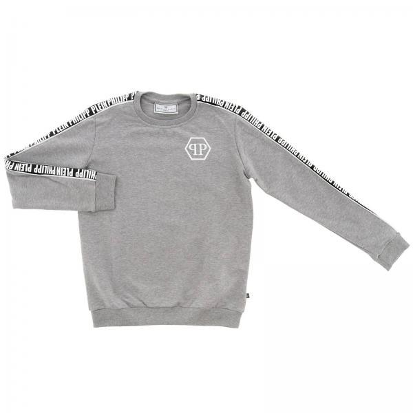Sweatshirt mit Rundhalsausschnitt, Logo und Totenkopf