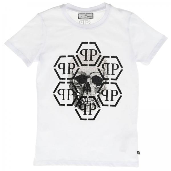 Philipp Plein 水钻骷髅装饰圆领T恤