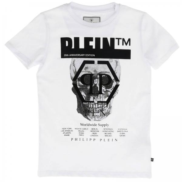 Philipp Plein T-shirt with round neck and maxi rhinestone skull