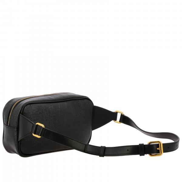 In Pelle Stampa Vintage Versace Donna Dv3h033l Dtlsv Marsupio Logo Nero90s Con dCsrhQt