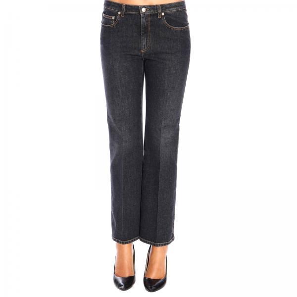 Jeans Sonia Rykiel cropped in denim stretch a zampa