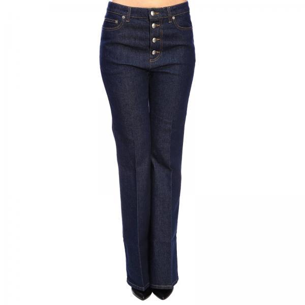 Jeans Sonia Rykiel in denim stretch a zampa
