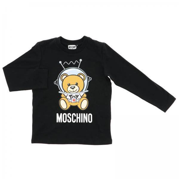Moschino Kid long-sleeved T-shirt with maxi Teddy space