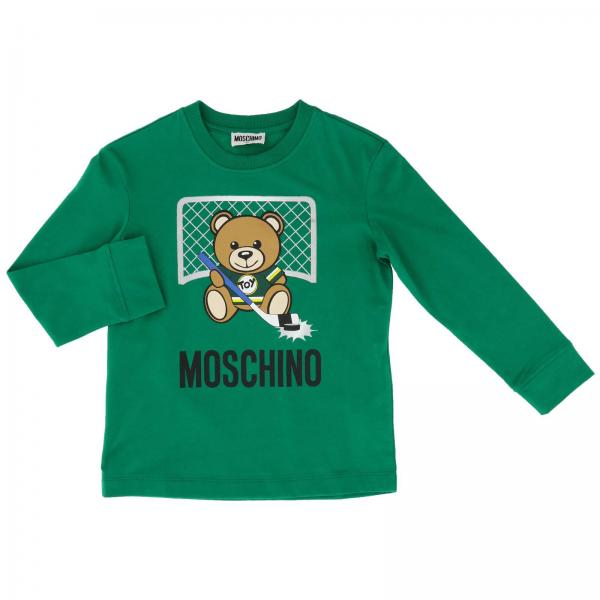 Moschino Kid long-sleeved T-shirt with maxi Teddy hockey