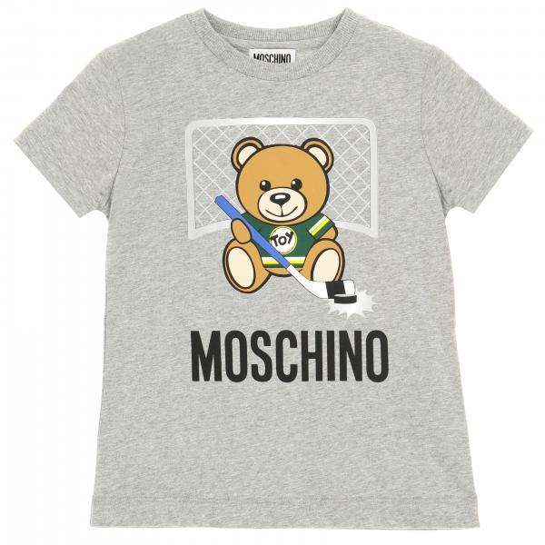 Moschino Kid short-sleeved T-shirt with maxi Teddy hockey print