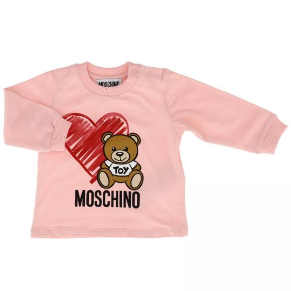 Maglia Moschino Baby con stampa Teddy cuore
