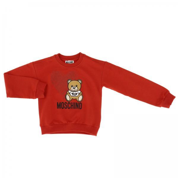 Crewneck sweatshirt with long sleeves and Teddy Moschino logo