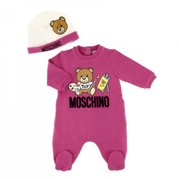 Set Tutina + cappello Moschino Baby con stampa teddy