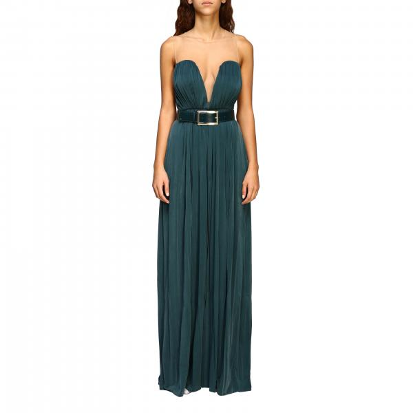 Kleid langes ärmelloses elisabetta franchi kleid mit gürtel Elisabetta Franchi - Giglio.com
