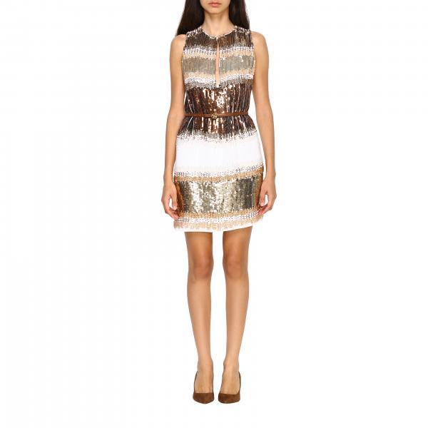 Elisabetta Franchi Kleid mit Applikationen und Gürtel