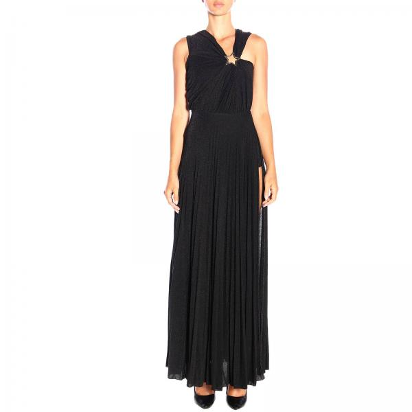 Elisabetta Franchi long dress in lurex fabric with star