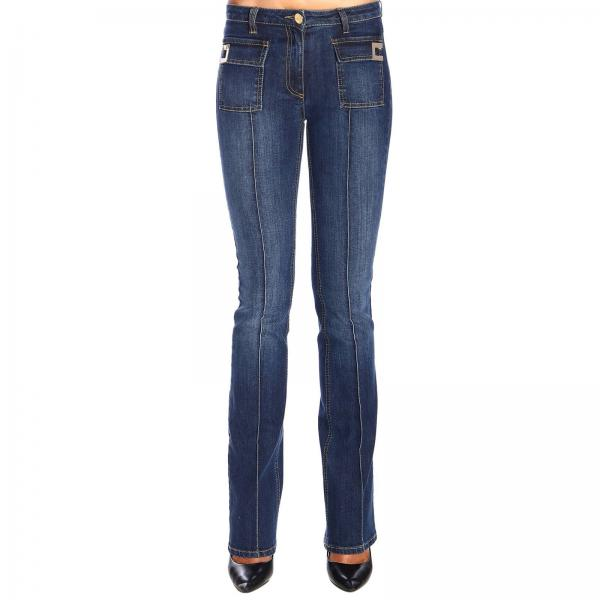 Slim-legged Elisabetta Franchi jeans with logo